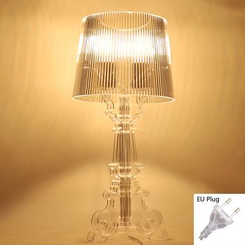 Akrylowa lampa stołowa lampa do sypialni salon lampa biurkowa studium crystal art deco obok ducha oświetlenie nocne oświetlenie E27 Eu plug tanie i dobre opinie Yurnoetee CN (pochodzenie) Łóżko pokój WHITE W górę iw dół Desk lamps Table lamp Desk lamp Ue wtyczka 90-260 v Pokrętło przełącznika