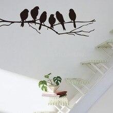 DIY Black Bird Tree Branch Living Room Bedroom Wall stickers Decal Art Mural Wallpaper Home Decor