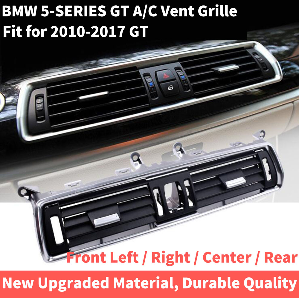 Auto Front Links Rechts Center Achter A/C Air Conditioner Chrome Outlet Vent Dash Panel Grille Voor Bmw 5 serie Gt 528 535 F07 10 17 - 4