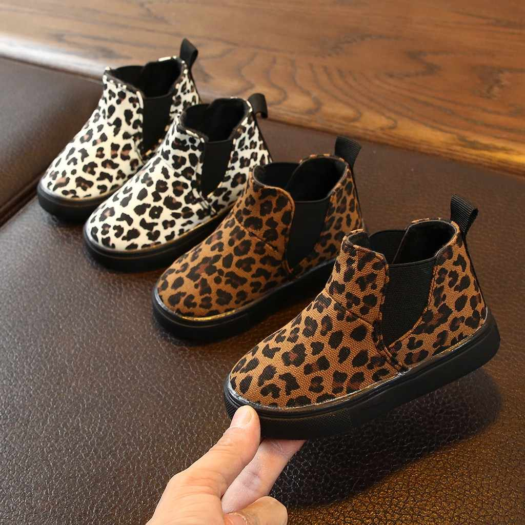 Children Kids Boots Baby Girls Boys Leopard Winter Warm Short Snow Boots Kids Casual Shoes Детская Обувь Botte Enfant Fille 2019