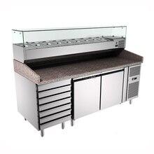 PFSY-PZ2610 стенд для пиццы чехол 304 нержавеющая сталь холодильник для пиццы верстак дизайн