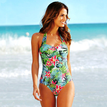 One-Piece Swimsuit 2020 Girl Beach Bathing Suit Swimwear Sexy Cross Criss Back Women Monokini Plus Size 3XL 4XL plus size skirted ruched one piece criss cross swimsuit