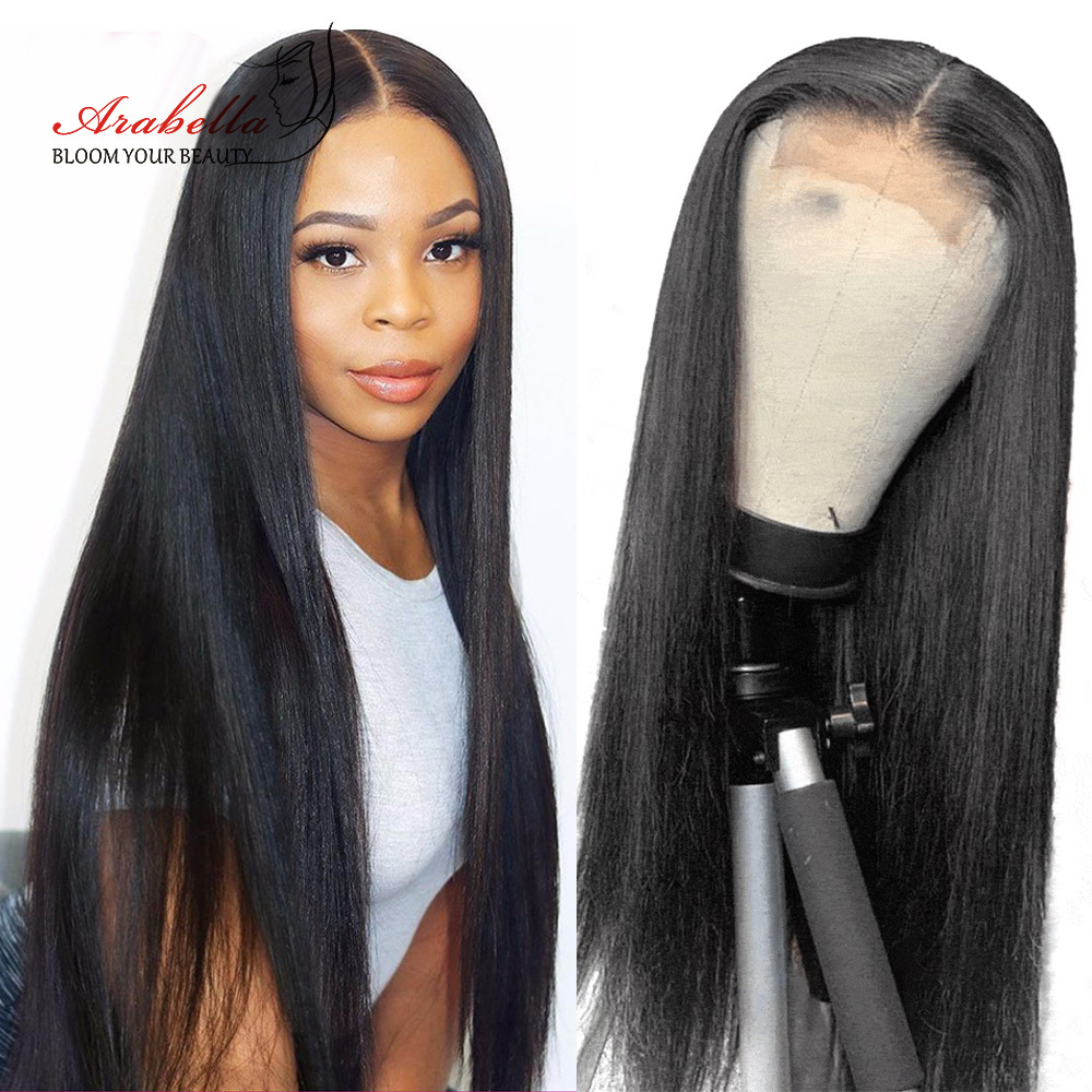 6x6 Lace Closure Wig Arabella PrePlucked Human Hair Wigs With Baby Hair Brazilian Straight Lace Wig 150 180 Density Remy Wigs