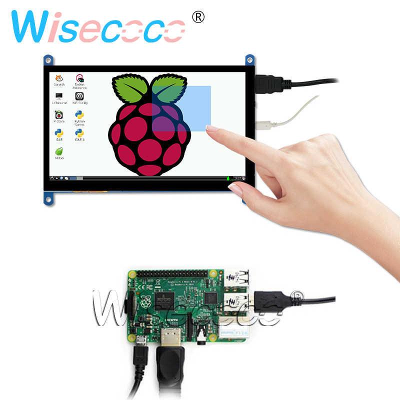 7 بوصة التوت Pi 4 نموذج B 3B زائد شاشة الكريستال السائل بالسعة شاشة تعمل باللمس 1024*600 800*480 HDMI TFT Win7 8 10