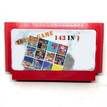 143 em 1 60 pinos 8 bits cartão de jogo com fantasia jogo 1 2 3/bros123/contra/pouco samson/tetris1 2/guerra estrela/turtles1