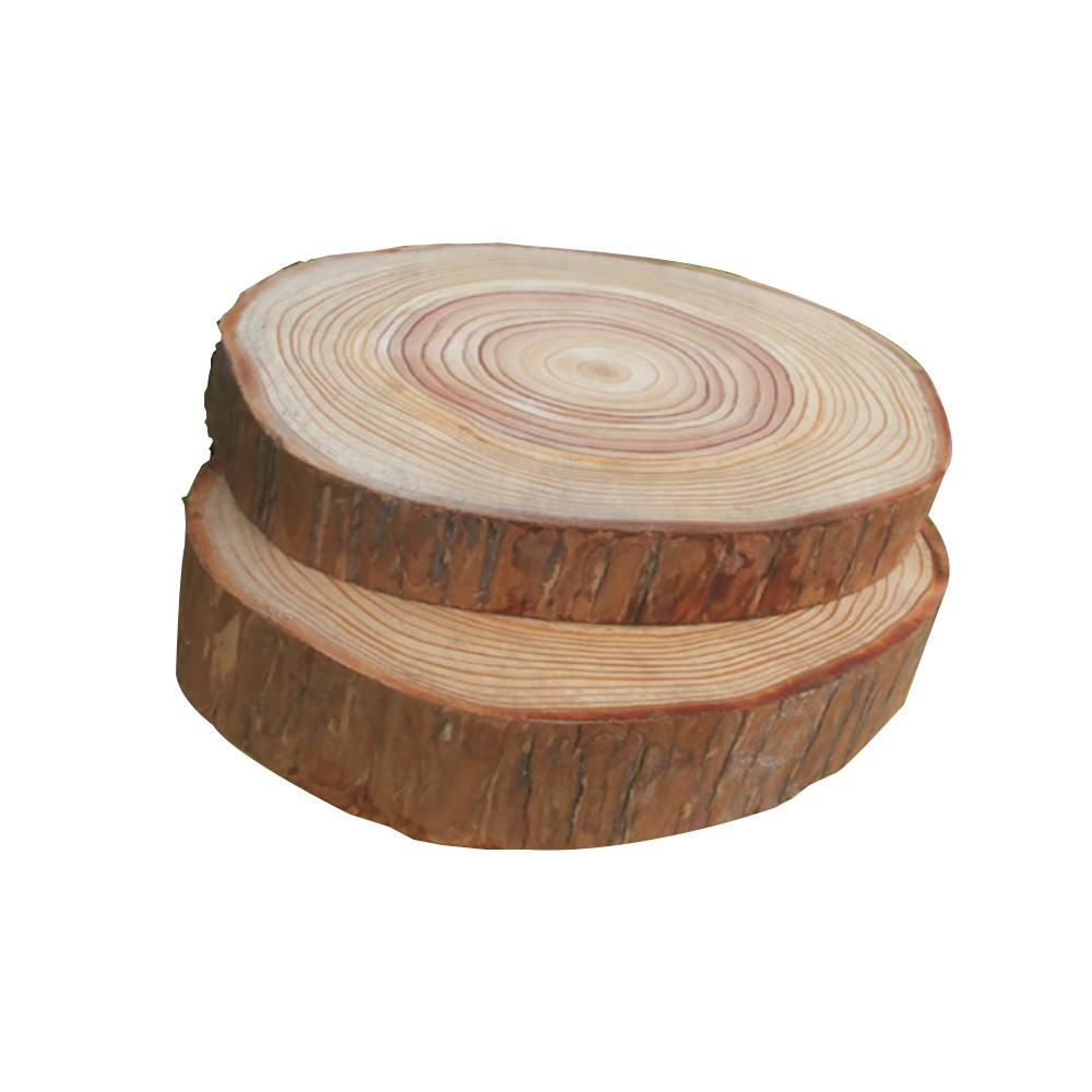 5pcs Wood Decoration Natural Round Wood Slices Circles With Tree Bark Log Discs For DIY Crafts Wedding Party Painting Decoration
