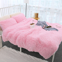 Bed Sofa Blanket Portable Car Travel Cover Super Soft Long Shaggy Fur Throw Blanket For Bed Adult Aircraft Sofa Office Blanket