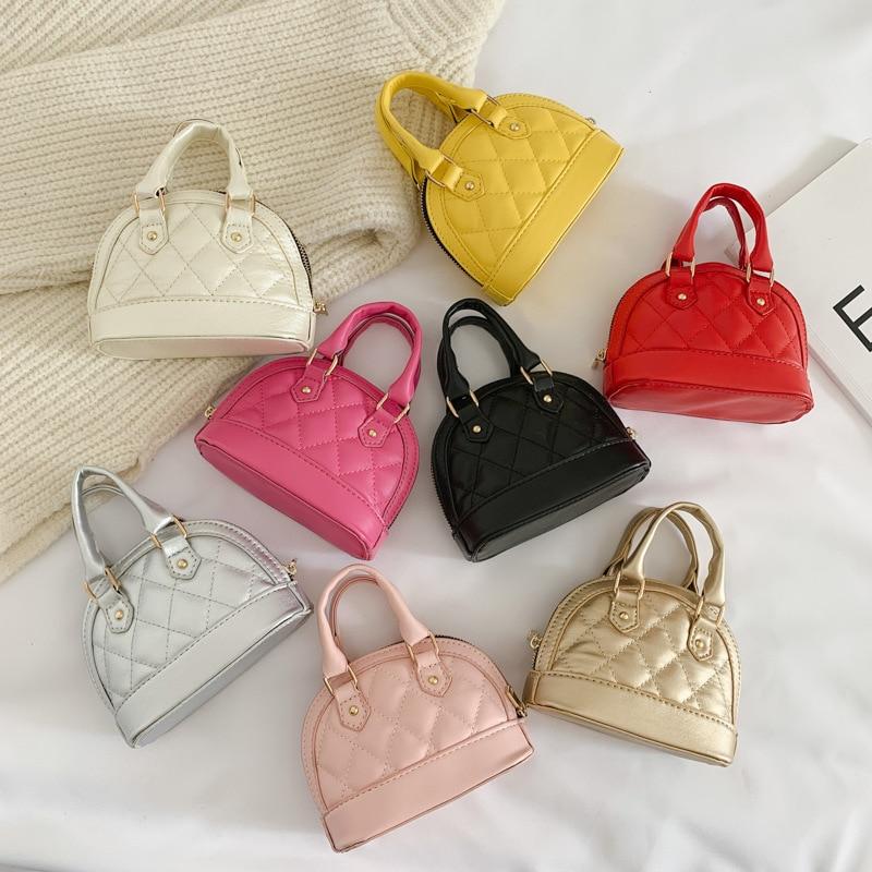 Little Girl Bag Fashion Shell Bag Shoulder Bag Western Style Graceful Girls' Handbag Princess Handbag Gilrs Mini Coin Pure