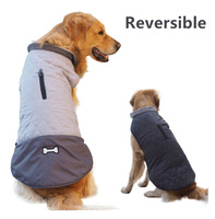 Wholesale Pet Clothes Large Dog Winter Autuman Jacket Vest Double sided Wearable Small Dogs Outdoor Coat Slightly Waterproof