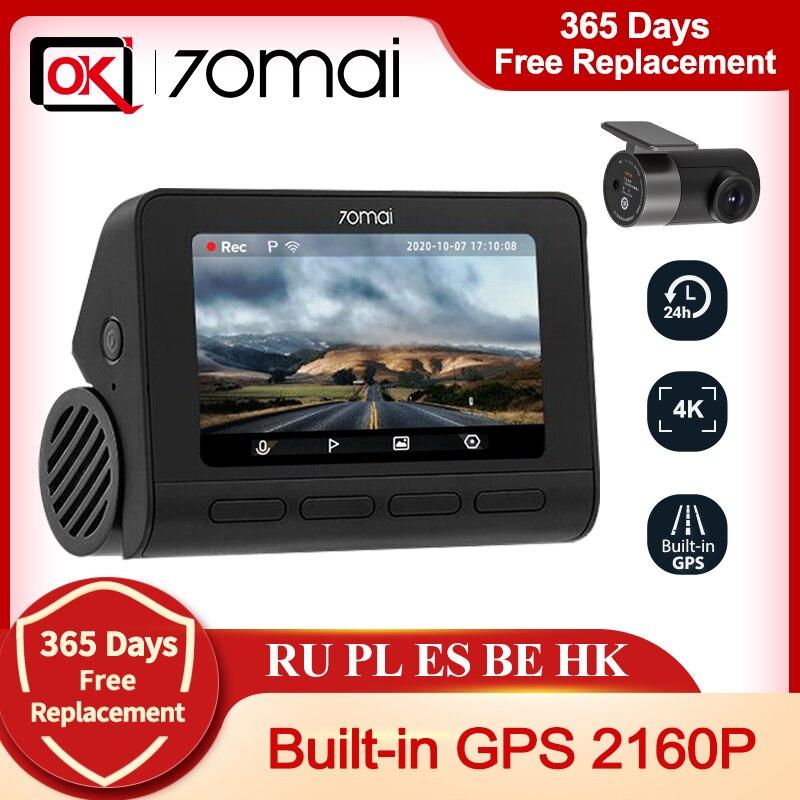 2020 nova chegada 70mai traço cam 4k a800 embutido gps adas real 4k uhd cinema-qualidade câmera de vídeo 24h estacionamento para sony imx415