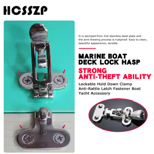 Image 2 - 2 pcs Marine Boat Deck Lock Buckle 316 Stainless Steel Lockable Hold Down Clamp Anti Rattle Latch Fastener Boat Yacht Accessory
