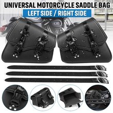 Sacoches moto sac à outils latéral bagage cuir PU sac de selle pochette noir universel