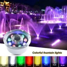 Luces Led Subacuáticas de aleación de aluminio, impermeables IP68, sumergibles para estanque, piscina, jardín, hotel