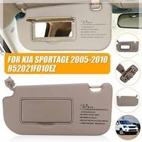 LHD Car Inner Front Sunvisor Sunshield Sun Visor Shield Shade Board With Mirror Beige For KIA Sportage 2005 2006 2007 - 2010