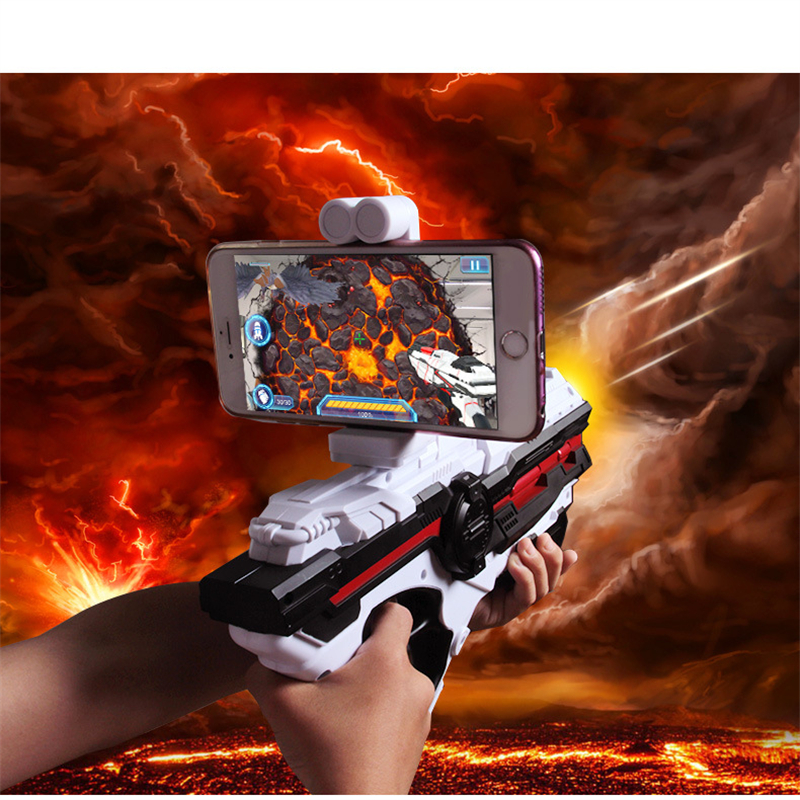 Creative Mobile Phone Smart Bluetooth AR Game Gun Outdoor VR Remote Sensing Game Toys For IOS Android Birthday Toys