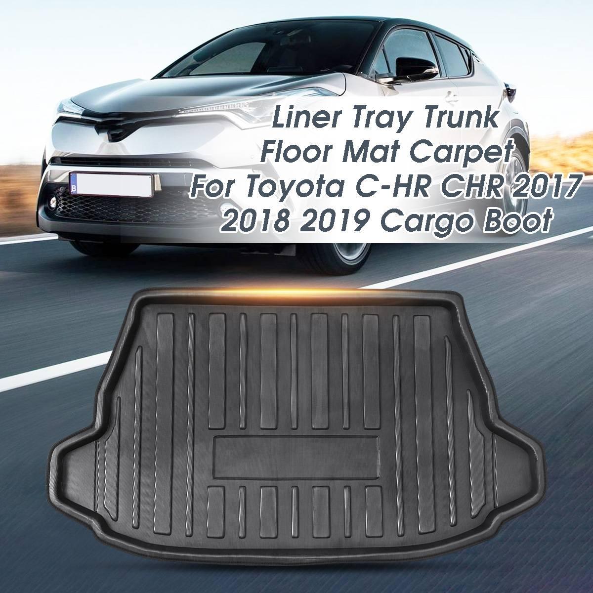 New Car Mat Car Boot Mat Cargo Mat Cargo Liner Cargo Cover Rear Trunk Mat Trunk Liner Tray Floor Mat Custom Fit for Toyota C-HR CHR 2017 2018 2019 2020