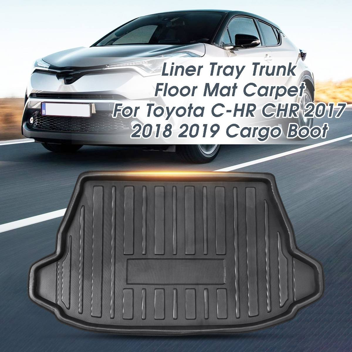 Cargo Liner Tray Rear Waterproof Trunk Mat Floor Carpet Tailored Boot For Toyota C-HR CHR 2017+ 2018 2019 2020+ Car Accessories