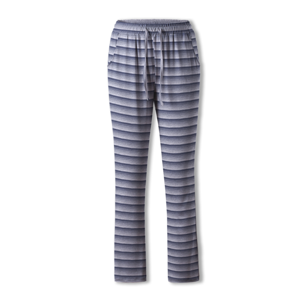 Neatie Kiddie Slpeepwear Stripe Elastic Waist Pajama Pants Women Full-length Home Lounge Clothes Spring Summer Sleep Bottoms