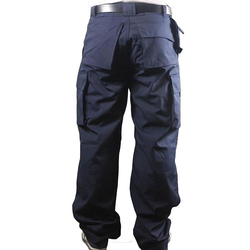 Güvenlik ve Koruma'ten Emniyet Giyim'de Çalışma pantolonu erkekler çok cepler iş kargo pantolon büyük boy gevşek stil erkek iş pantolon aşınma direnci kaynak tamirci title=