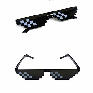Party Gifts Mosaic Sunglasses Trick Toy Thug Life Glasses Deal With It Glasses Pixel Women Black festive Gifts(China)