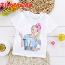 Jojo Siwa big sister teens boys t shirt tops summer kawaii cute anime roupas infantis masculino tee baby