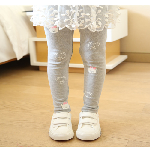 Vidmid Girls Spring And Autumn Bear Cotton Leggings New Korean Version Children's Casual Bottoming Pants Trousers Cothes P206 4