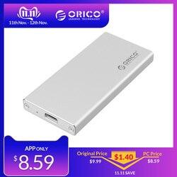ORICO Alluminio USB3.1 Tipo-C mSATA SSD Enclosure USB3.0 mSATA SSD Caso di Fissaggio A Vite Con Cavo Dati Per Finestre /Linux/Mac