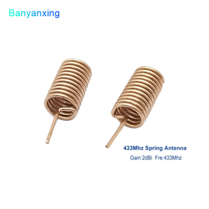Image 5 - 433MHZ Copper Spring Antenna Spiral Coil Antenna Module 433 Built in PCB Welding Antenna Bend/Right Angle