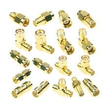 18 Pcs SMA Kits Stecker Männlich Weiblich Stecker Antenne Konverter Adapter Coax Set