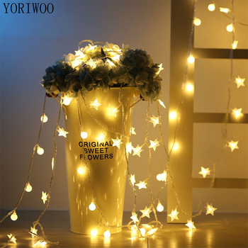 YORIWOO 3M Fairy LED String Lights Battery Operated Romantic Mr Mrs Wedding Decoration Birthday Gifts Christmas Garland Led Lamp image
