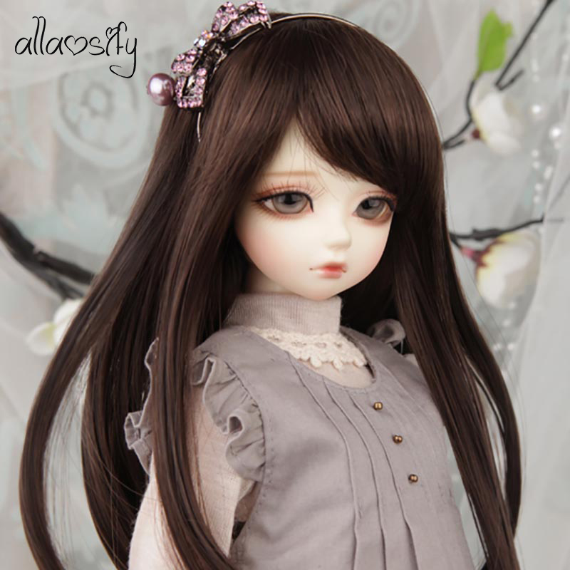 Allaosify lovely straight <font><b>doll</b></font> hair 1/3 1/4 1/6 <font><b>1/8</b></font> <font><b>BJD</b></font> <font><b>wigs</b></font> <font><b>doll</b></font> accessories Resin <font><b>doll</b></font> Collection <font><b>doll</b></font> <font><b>wigs</b></font> image