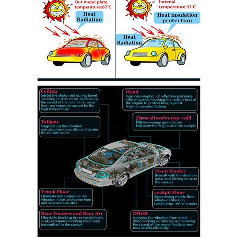 10mm samochód ciężarówka Firewall dźwiękochłonny utwardzacz ciepła mata izolacyjna izolacja akustyczna wełna samochód ciepła dźwięk izolacja termiczna Pad 50*200cm