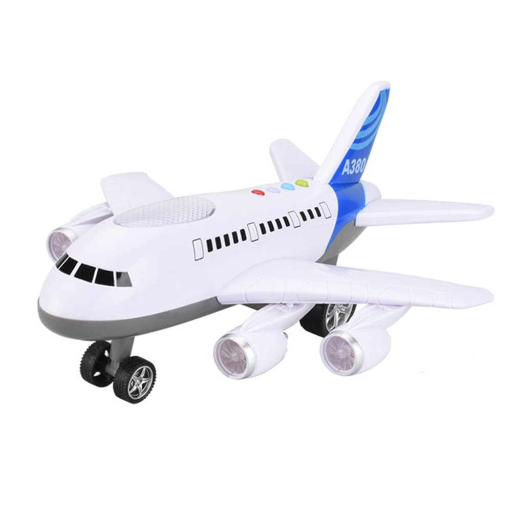 Electric Airplane Model Toys Moving Flashing LED Light Sounds Kids Toy Aircraft Children Airbus Music Toy Christmas Gift For Kid
