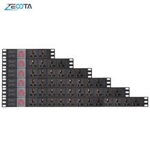 Listwa zasilająca PDU szafka sieciowa gniazdo wtykowe uniwersalny 15A stop aluminium 2/4/6/8/10/12 Way Outlet rozłącznik 2m przedłużacz
