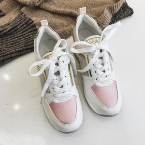 Image 5 - 2020 Wedge Sneakers Shiny Bling Design Autumn Winter Elegant Women Shoes Platform Fashion Woman New Brand Casual Style