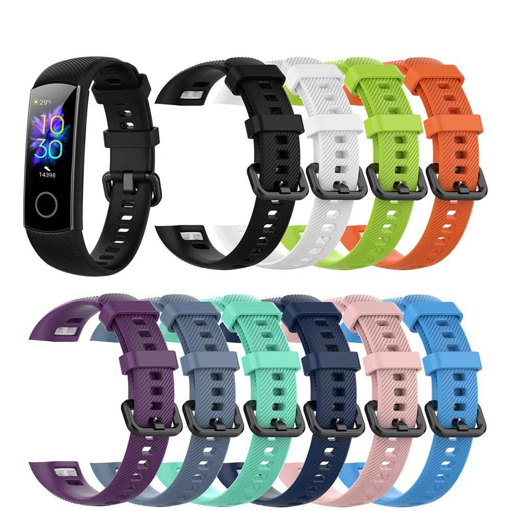 2020 Nieuwe Komende Classic Siliconen Polsband Smart Polsband Vervanging Horloge Band Voor Huawei Honor Band 5 4 Sport Armband