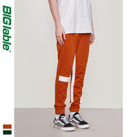 BIG LABLE Mens Side Letter Print Vintage Sweatpants Retro Trousers Men Track Pants Men Women Ins Fashion Pants 8841W