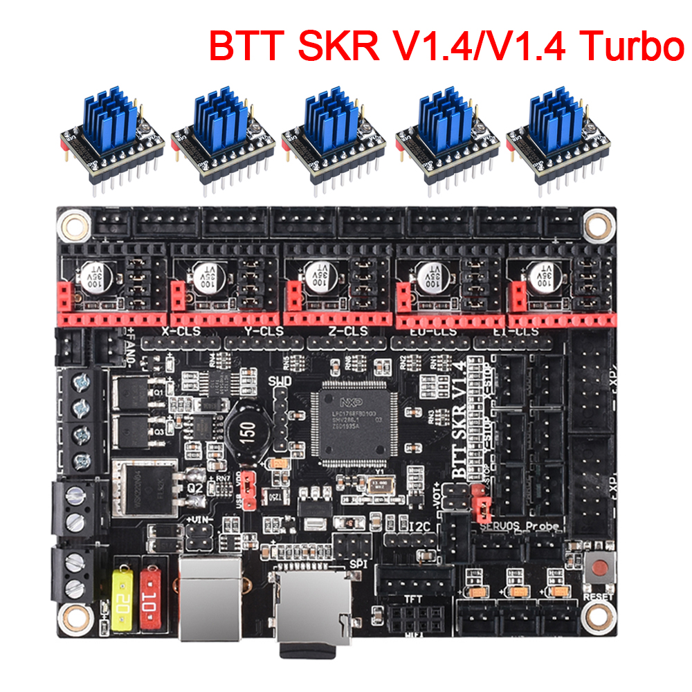 BIGTREETECH SKR V1.4 Control Board BTT SKR V1.4 Turbo 32Bit WIFI TMC2209 3D Printer Parts SKR V1.3 TMC2208 For Ender 3 MKS GEN L
