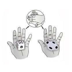 Truques de magia de dados achatados perto magia mentalismo ilusão truque adereços acessórios comédia dados sólidos para achatar magie