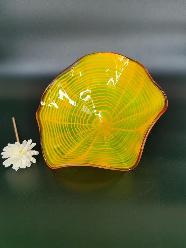 amarelo artesanal vidro sala estar lampadas 05