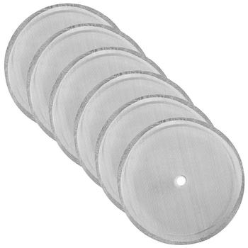 6 sztuk sitko filtrujące do kawy wielokrotnego użytku do praska francuska maszyna do robienia ze stali nierdzewnej stałe narzędzie do filtrowania kawy tanie i dobre opinie NoEnName_Null STAINLESS STEEL Wielokrotnego użytku Filtry 350ml 6 3cm 800ml 8 3cm 1000ml 9 3cm Silver