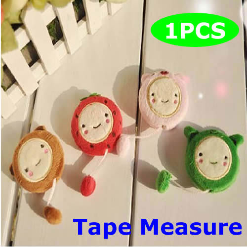 Lovely 150cm 60 Inch Cartoon  Plush Retractable Tape Measure Ruler Sewing Tool