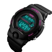 SKMEI Fashion Outdoor Sport Women Watch Waterproof Chrono Ladies Watches Week Display Alarm Digital Wristwatches 1334