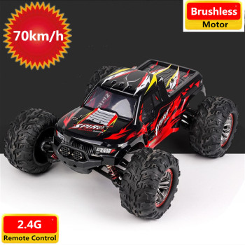 High Speed 70KM/H 2.4G 1/10 4WD Brushless Motor Bigfoot RC Car Vehicle Models Truck Off-Road Buggy Climbing RC Car Toy RTR image