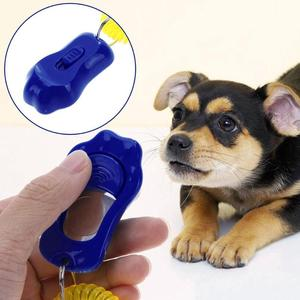 Тренировочный кликер для домашних животных, кошек и собак, Пластиковый Регулируемый ручной браслет, звуковой брелок для ключей, для поддерж...