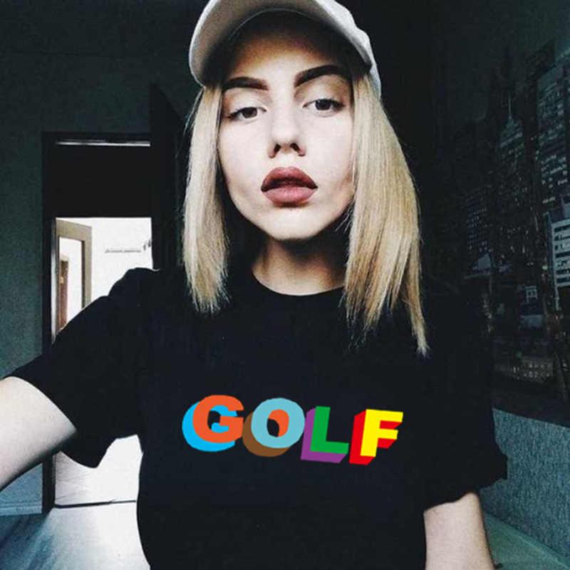 גולף Kawaii הדפסת T חולצת נשים 90s Harajuku Ullzang אופנה חולצה גרפי חמוד Cartoon Tshirt קוריאני סגנון למעלה Tees נקבה