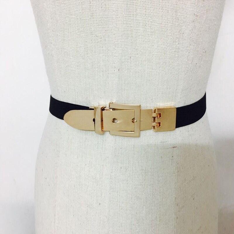 Women's Belt Metal Belt Fashion Wild Belt Elastic Decorative Dress Windbreaker Wide Belt Adjustment Belt Elastic Band Girdle