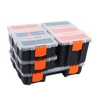 Caja de componentes de herramientas, contenedor de tornillo transparente combinado de piezas de plástico, caja de almacenamiento, accesorios de Hardware, 4 unid/set