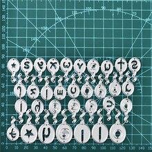 Naifumodo Alphabet Abc Ballon Metal Cutting Dies Hello Stencils Die Cut New for DIY Scrapbooking Album Paper Card Embossing