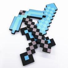 Minecrafted – jouet épée en mousse EVA souple, 45cm, Design diamant bleu, jouets adorables pour garçons, cadeau d'anniversaire pour enfants